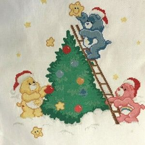 Care Bears Christmas Counted Cross Stitch 11x14 Bl